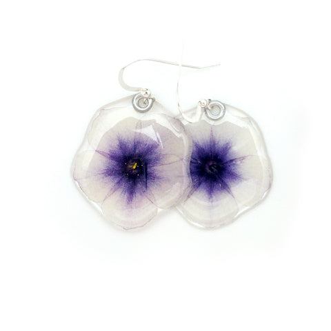 69103 Purple and White Phlox earrings