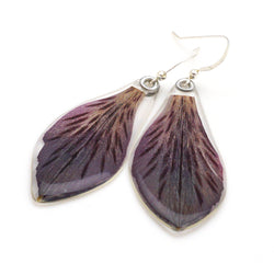 69106 Dark Purple Alstromeria Earrings