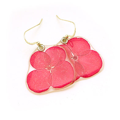 69204 Dark Pink Hydrangea flower earrings