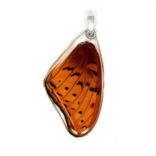 BU-0500-T-PE<BR>Butterfly Pendant Only, Cramer's Cruiser, Top Wing