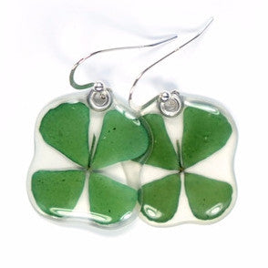 Four Leaf Clover flower earrings