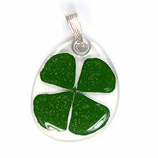Four Leaf Clover flower pendant