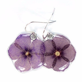 Phlox flower earrings
