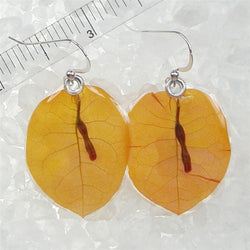 Orange bougainvillea earrings
