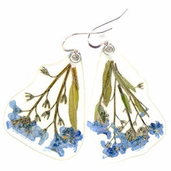 Forget-me-not on stem earrings