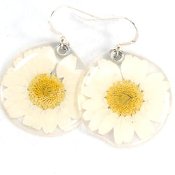65010 White Daisy Earrings