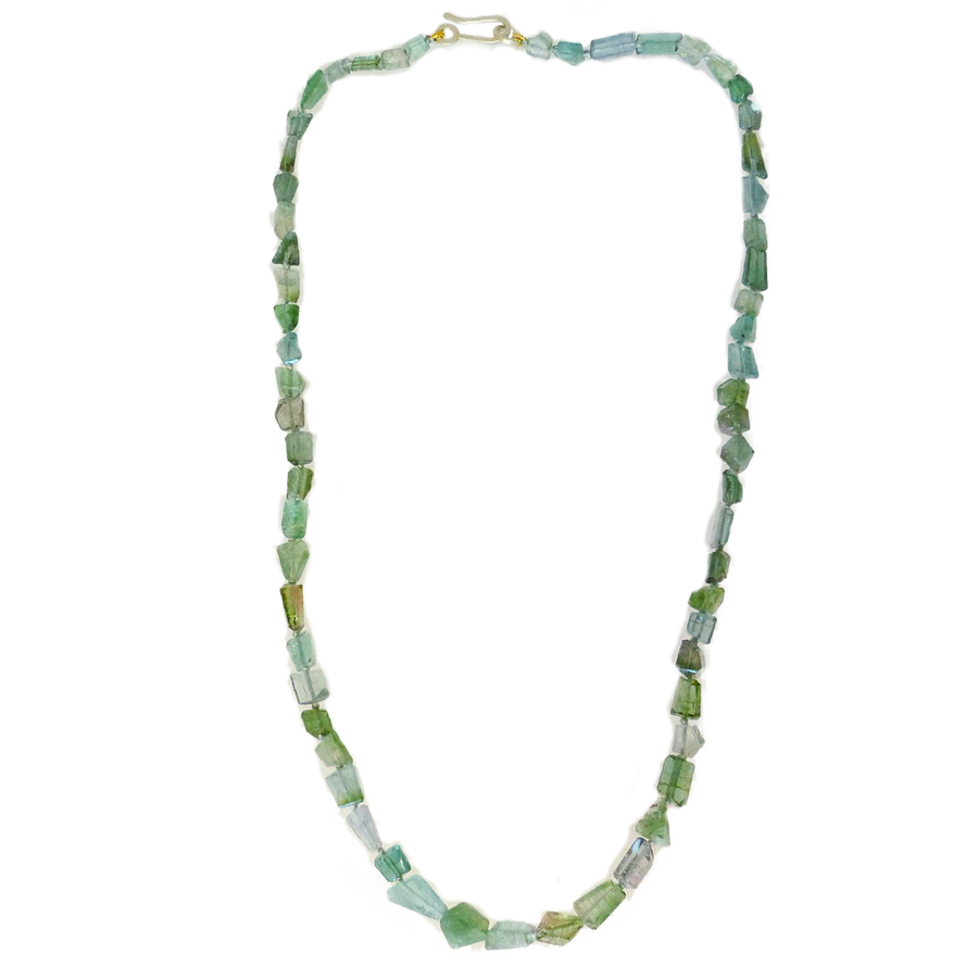 Green Tourmaline Geometric Necklace