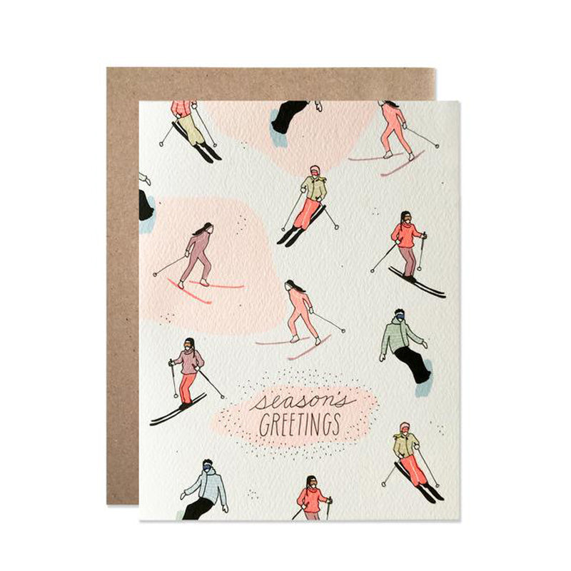 Season's Greeting Skiing Card