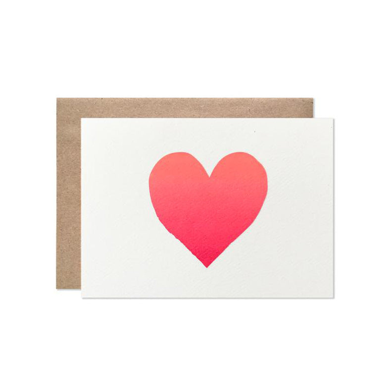 Ombre Heart Card