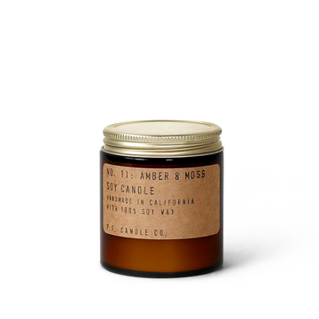 P.F. Candle Co Amber + Moss 3.5 oz Mini Soy Candle