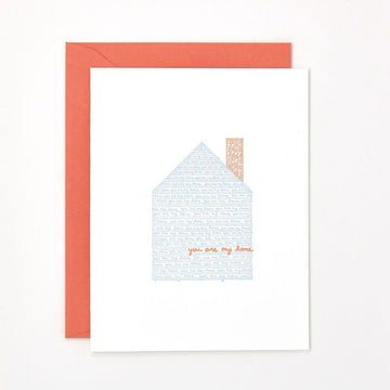 You Are My Home Letterpress Card