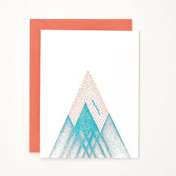 Congrats Mountain Letterpress Card