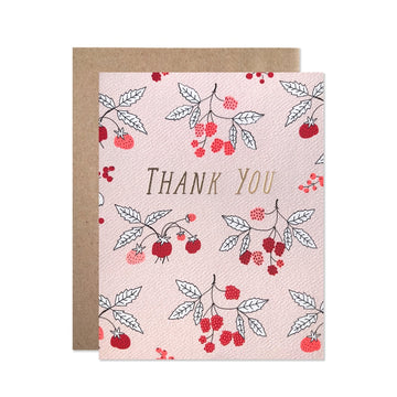 Thank You Raspberries Card