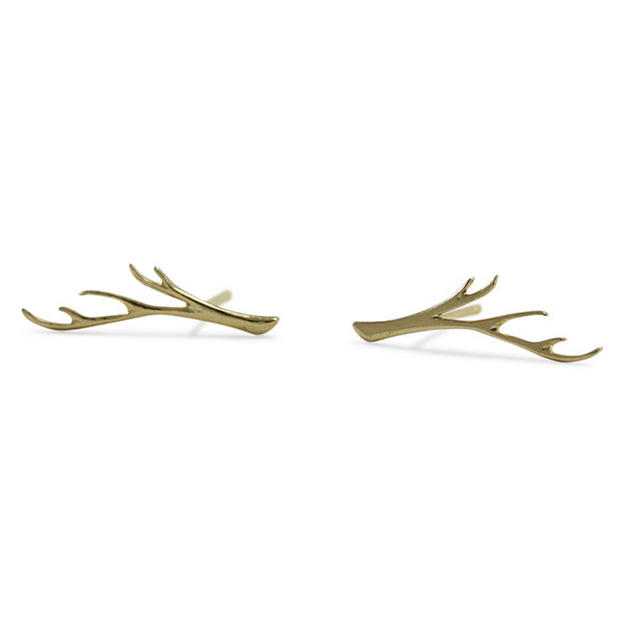 Large Branch Studs - 14k Gold