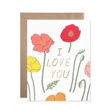 Love you Poppies Card