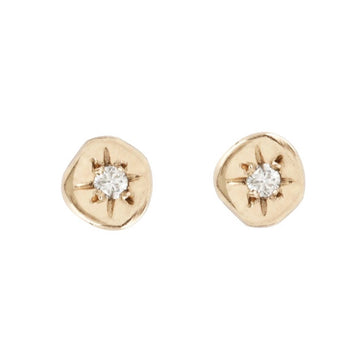 Alula Diamond Studs - 14k Gold