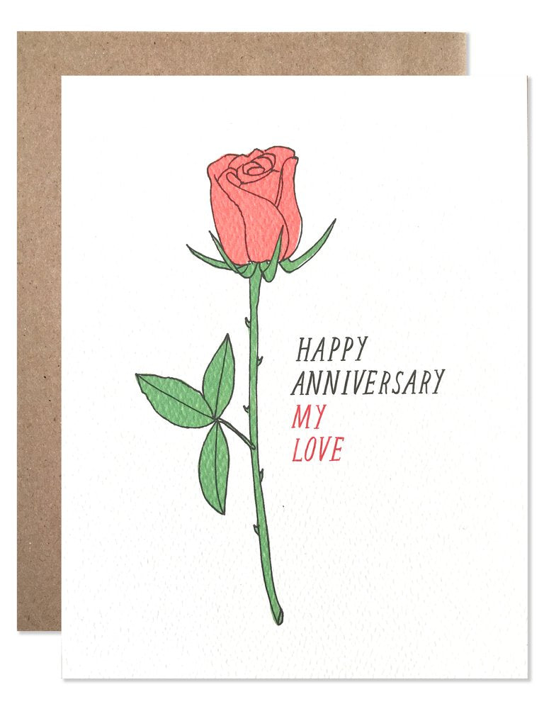 Happy Anniversary My Love Rose Card