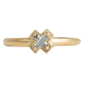 Gold + Baguette Diamond Band