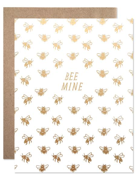 """Be Mine"" Golden Bees Card"