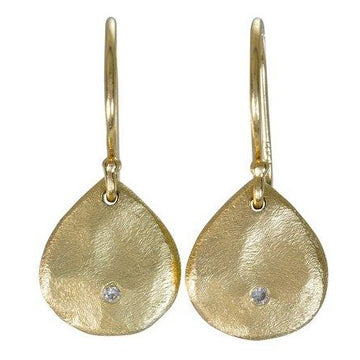 Mini Diamond Scale Dangle Earrings In 14k Gold