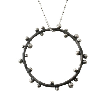 Flotsam & Jetsam Circle Necklace In Sterling Silver