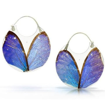 Morpho Encasement Hoop Earrings