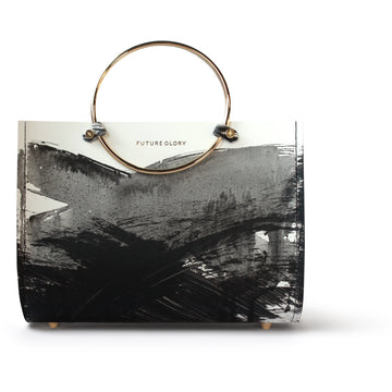 Sumi Mini Bag With Thin White Leather Adjustable Strap