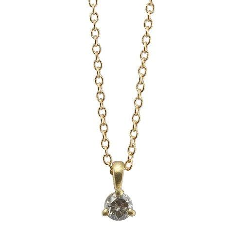 Salt & Pepper Diamond Necklace In 14k Gold