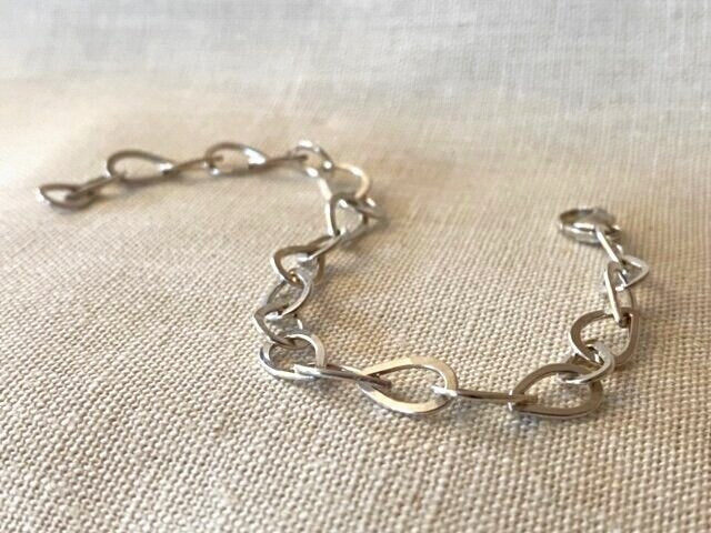 Tear Drop Cascade Bracelet - Sterling Silver