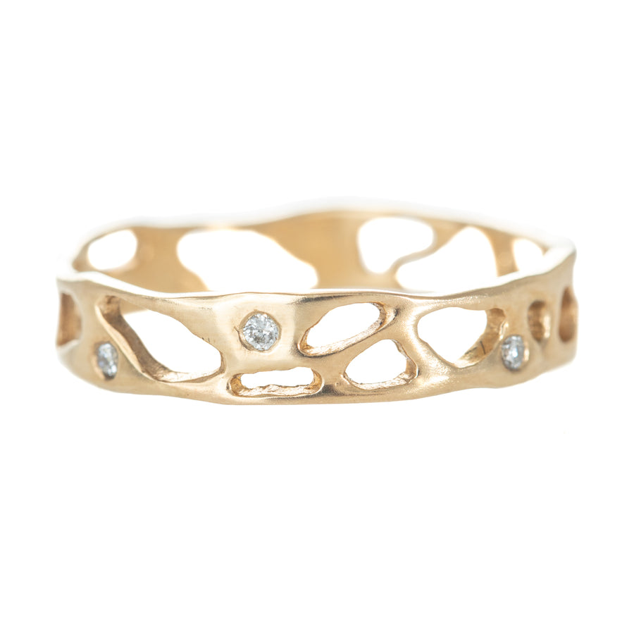 Little Sur Band - 14k Gold + Diamonds