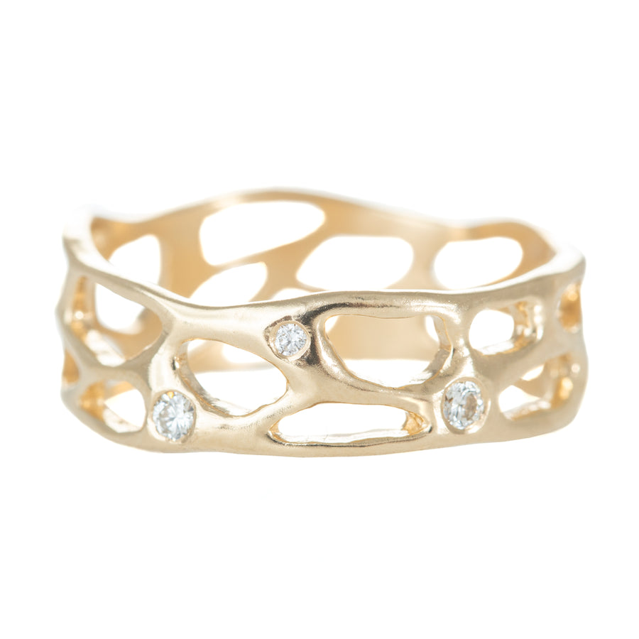 Big Sur Band - 14k Gold + Diamonds