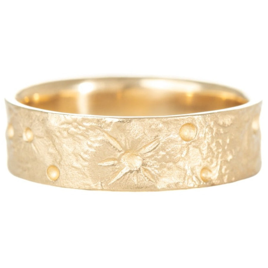 Moon Texture Ring - 14k Gold