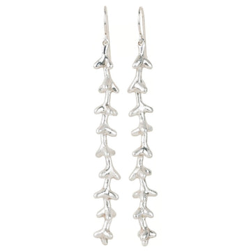 Palm Flower Earrings Silver