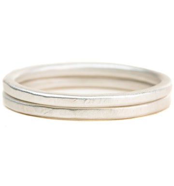The Jane Stack Rings - Matte Silver