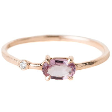 Wink Pink Spinel & Diamond Gold Ring