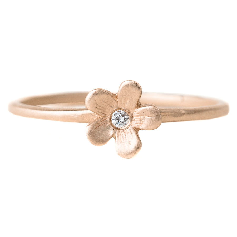Buttercup + Diamond Ring - 14k Gold