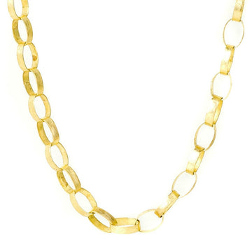 Gold Paper Chain Necklace - 18k Gold