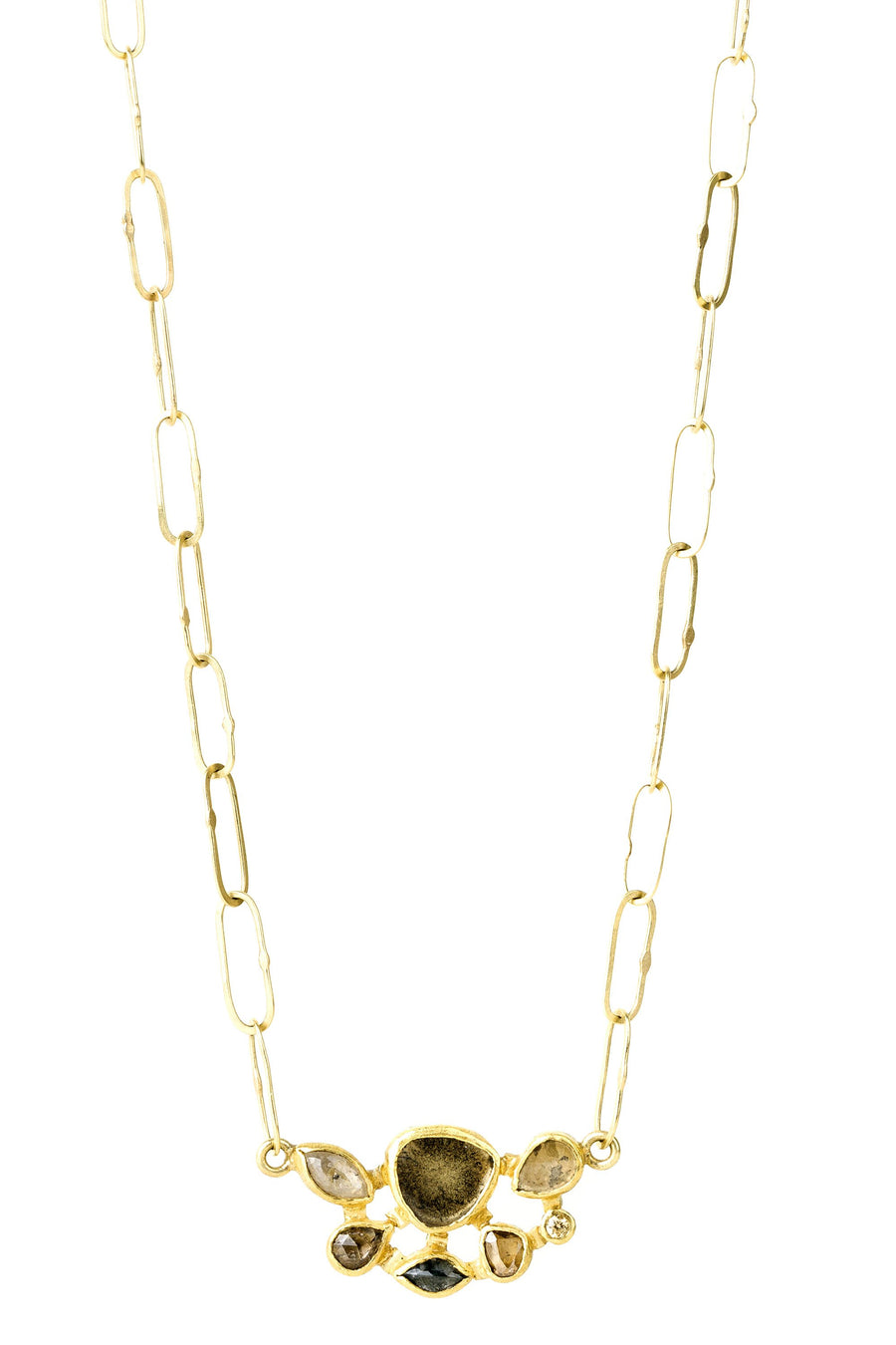Diamond Necklace - 22k + 18k Gold