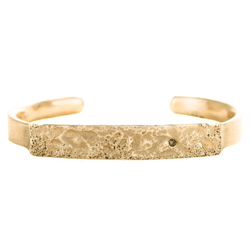 Topography Cuff Bracelet in Yellow Bronze with Autumn Diamond