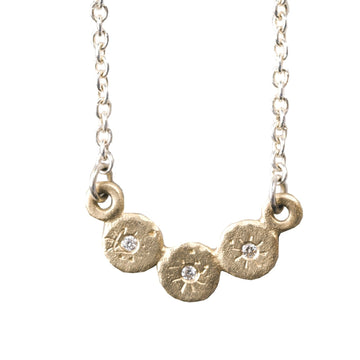 Mini Treasure Coin Bib Necklace In 14k Gold