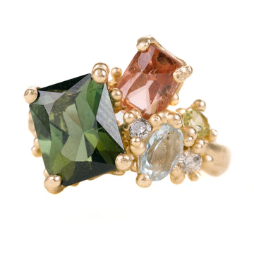 Asymmetric Cluster Ring