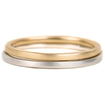 Smooth Stacker - 18k Gold, 14kpw Gold