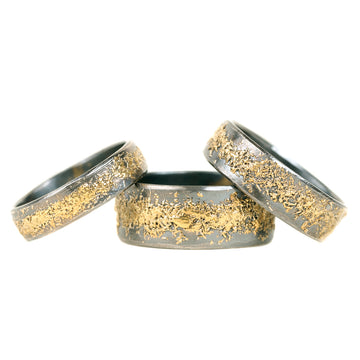 Warrior Band - 22ky Gold + Oxidized Argentium Silver