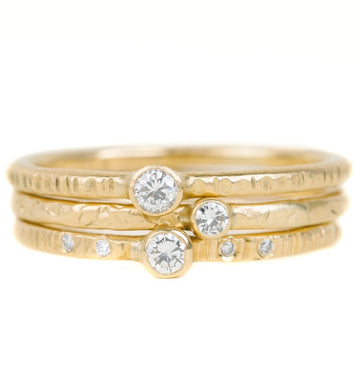 Goldyn Stacker Band - 18k Gold + Reclaimed Diamonds
