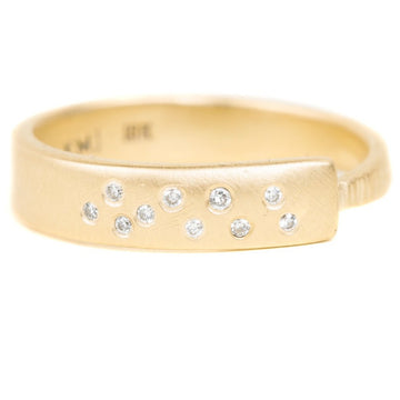 Luxe Aspen Band - 18ky Gold + Reclaimed Diamonds