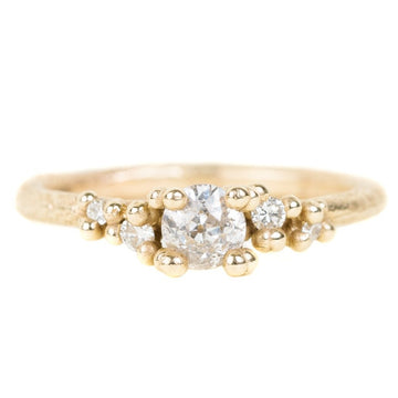 Antique Round Diamond Encrusted Ring