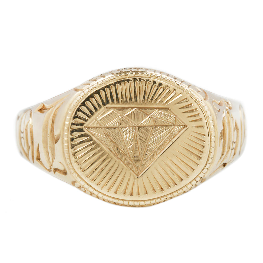 Like a Diamond Signet Ring - 14k Gold