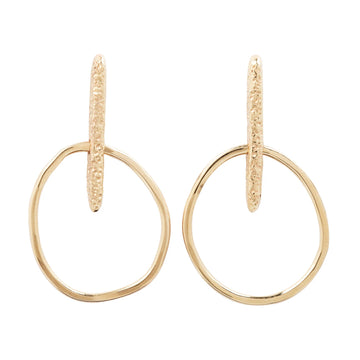 Little Link Hoops - 14k Gold