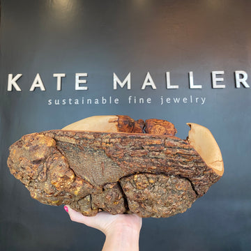 One Of A Kind Maple Carved Burl Bowl - A