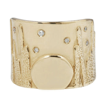 Moonrise Diamond Band - 14k Gold